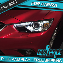 AKD Car Styling Head Lamp for MAZDA 6 mazda6 ATENZA Headlights LED Headlight  DRL Bi-Xenon Lens HID Car modification