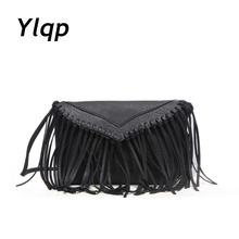 2017 Summer Fashion New Export Retro Tassel Woman Leather Handbag Women Shoulder Bag Messenger Bags Satchel(China)