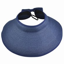 MAKE Hot Foldable Portable Wide Big Womens Anti-UV Cap Brim Summer Sun Hat Straw Hat(China)