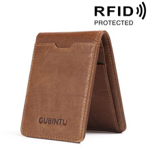 Buy Brand New 100% Real Leather Dollar Wallet Men's Credit ID Card Holder Pack RFID Protected Style Cash Purse for $7.69 in AliExpress store
