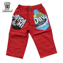 XIAOYOUYU Size 90-130 Children Casual Loose Shorts Fashion Pattern Good Quality Summer Outdoor Boy & Kid Cotton Capri Trousers(China)