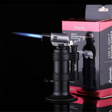 Windproof Smoking Cigar Lighter Butane Jet Lighter Butane Torch Gas Lighters Gas Cooker Lighters Refillable