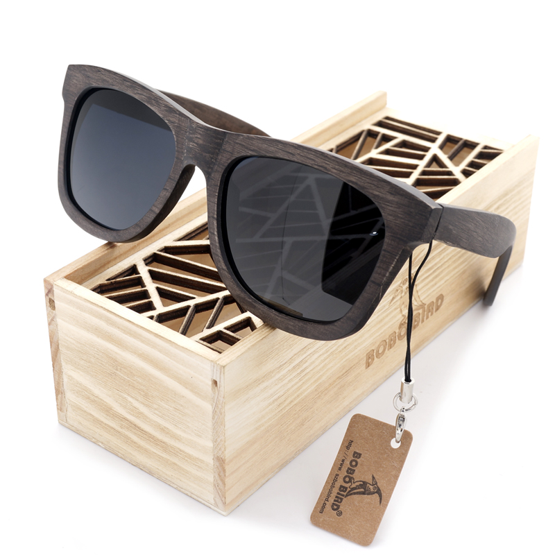 BOBO BIRD Premium Natural Frames Original Wooden Casual Polarized Lens Sunglasses Men and Women With Gift Box<br><br>Aliexpress