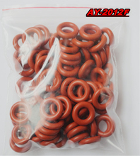 free shipping 1000pieces universal fuel injector rubber oring  red color fit for fuel injection repair kits (AY-O2012F)