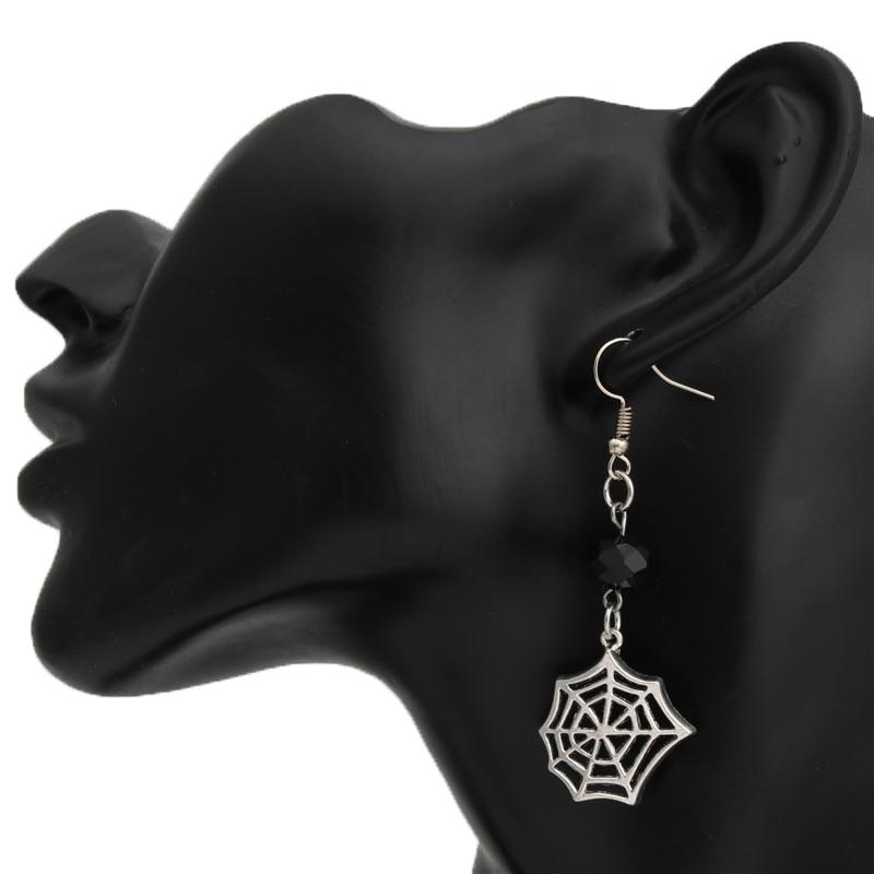 Halloween Triple Spider Gothic Dangle Drop Earrings Handmade
