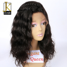 Wavy Short Bob Wigs For Black Women Remy Brazilian Lace Front Human Hair Wigs Pre Plucked With Baby Hair Elegant Queen
