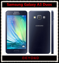 "Samsung Galaxy A3 Duos Original Unlocked 4G GSM Android Mobile Phone Dual Sim A3000 Quad Core 4.5"" 13MP RAM 1GB ROM 8GB(China)"
