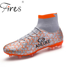 Fires Men Soccer Boots Long Spikes Professional Brand Sports Soccers Shoes Mens Outdoor Autumn Big Size Football Boot chuteiras