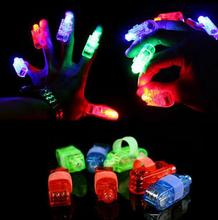 Fun Finger Lights LED Beams Laser Rings Raves Neon Glow Lamps party birthday Chistmas Disco prop popular festive evernt supplies(China)