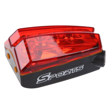3 Pcs of (UK Bicycle Bike 5 Led Red Laser Beam Cycling Lights Safety Tail Rear Light Lamp)(China)