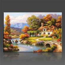 WEEN Oil Pictures Paintings By Numbers DIY Digital Coloring By Number On Canvas Unique Gifts Home Decoration 40x50cm(China)