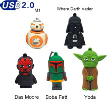 Pen drive 64GB, Cartoon USB Pen drive Star wars darth vader 4GB/8GB/16GB/32GB usb flash drive flash memory stick pendrive U disk(China)