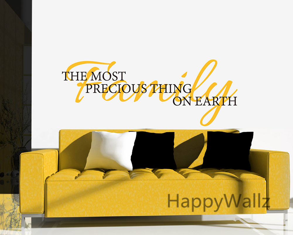 Family The Most Precious Thing On Earth Home Quotes Wall Sticker DIY Decorative Vinyl Art Decals Q162