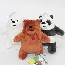 3pcs/set 13cm We Bare Bears Popular Cartoon Grizzly Ice Bear Panda Plush Soft Doll Animal Stuffed Pendant For Kids Birthday Gift