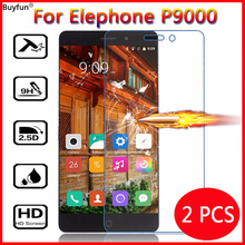 2 Pcs For Elephone P9000 Tempered Glass For Elephone P9000 P 9000 Phone Screen Protector 2.5D Cover Protective Film Guard Case