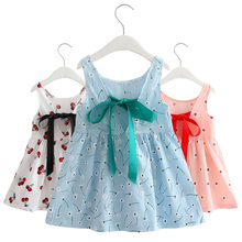 Girls Dress for Kids Children Summer Clothes Princess Trendy Style Sleeveless Knee Length Fashion Dresses 2 to 7 Years