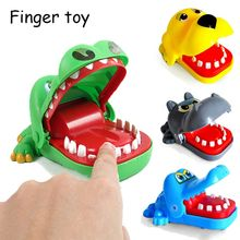 Hot Sell Creative Crocodile Shark Mouth Dentist Bite Finger Classic Biting Hand Crocodile Game Novelty Gag Toy for Kids Play Fun(China)
