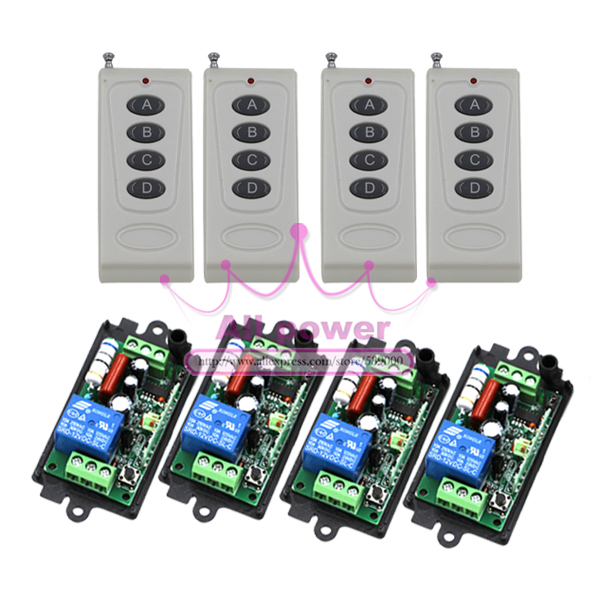 1CH RF New 220V Radio Control Relay 2 Working Ways Remote Control Switch Learning Code 315/433 MHz<br>