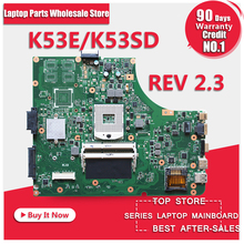 A53E K53E K53SD Mianboard For Asus A53E A53S K53E K53S K53SD laptop motherboard HM65 Rev: 2.3 mainboard USB3.0 100% work(China)