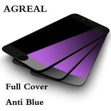 Buy AGREAL 9H 2.5D Full Cover Tempered Glass Apple iphone 7 Plus Screen Protector Anti Blue Light Protective Film iphone 7 for $1.79 in AliExpress store
