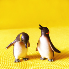 2 Pcs/miniatures penguin/cute/lovely/fairy garden gnome/terrarium /home decoration/resin crafts/ Antarctic animals/g20