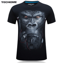 Brand 3D T Shirt Men Hip Hop T-shirt 5XL 6XL Plus Size Mens Funny T Shirts Luxury Brand Camiseta Animals Print Tee Shirt Homme