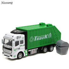 New 1:48 Back In The Toy Car Garbage Truck Toy Car children Baby Kids green toy garbage truck model car Gift wholesale