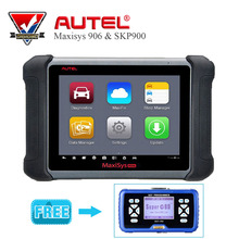 "2017 New Autel MaxiSYS MS906 8"" Android 4.0 BT/WIF Automotive Diagnostic Scanner & SuperOBD SKP-900 OBD2 Auto Key Programmer(China)"