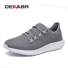 DEKABR 2018 New Fashion Trend Men Casual Shoes Summer Breathable Mesh Shoes Light Fashion Flats Essential For Male Footwear(China)