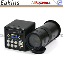 "2.0MP 1/3"" CCD CMOS USB VGA Industry microscope Camera Digital Electronic Camera+Zoom 100X C-Mount Lens for PCB Repair"