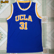 Uncle GG 2018 Mens Reggie Miller Jersey Cheap Throwback Basketball Jersey #31 UCLA College Retro For Men All Atitched(China)