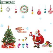 2017 Real Limited Plane Wall Sticker Wall Stickers For Kids Rooms Christmas Series Tree Festive Wall Sticker Pvc Film Removable