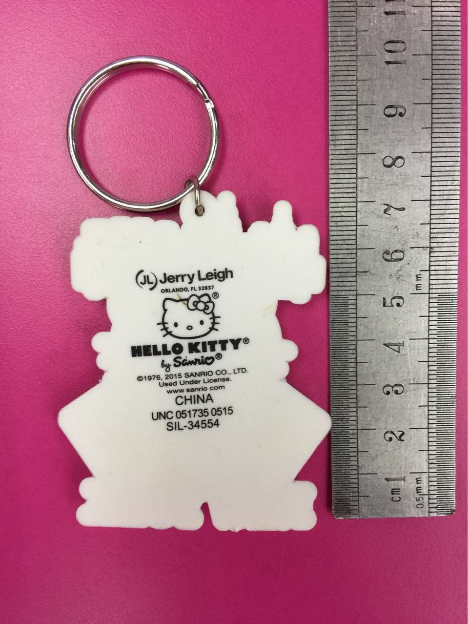 G604-1 Sanrio Hello Kitty Original Japanese anime figure rubber Silicone mobile phone charms keychain strap