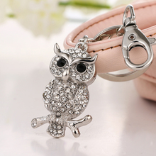 2017 Z new fashion cute owl on the tree twig on the eagle keychain wallet & bag buckle holiday birthday gift(China)