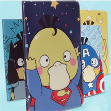 2017 New model cartoon Superman Rilakkuma pattern tablet case for ipad 2 3 4 common PU leather cover brand quality(China)