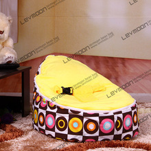 FREE SHIPPING baby bean bag cover with 2pcs golden up cover baby beanbag bean bags chair baby seat waterproof bean bag chair(China)