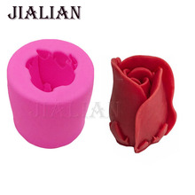 3D Silicone Mold Rose Flowers Shape Mould For Soap,Candy,Chocolate,Ice,Candle Cake decorating tools cake pop recipe T0785