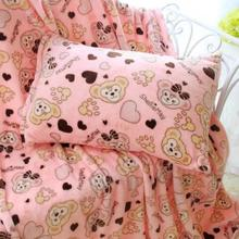 X-TMCartoon cute flannel blanket air conditioning in summer blanket, single pillowcase, coral cashmere sheets, blankets Vehicle
