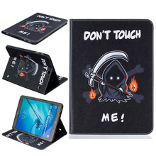 Funny Desgin PU Leather Back Cover Case Protective Shell For Samsung TAB S2 T810 T815 Clamshell Wallet Phone Case+Card Holder