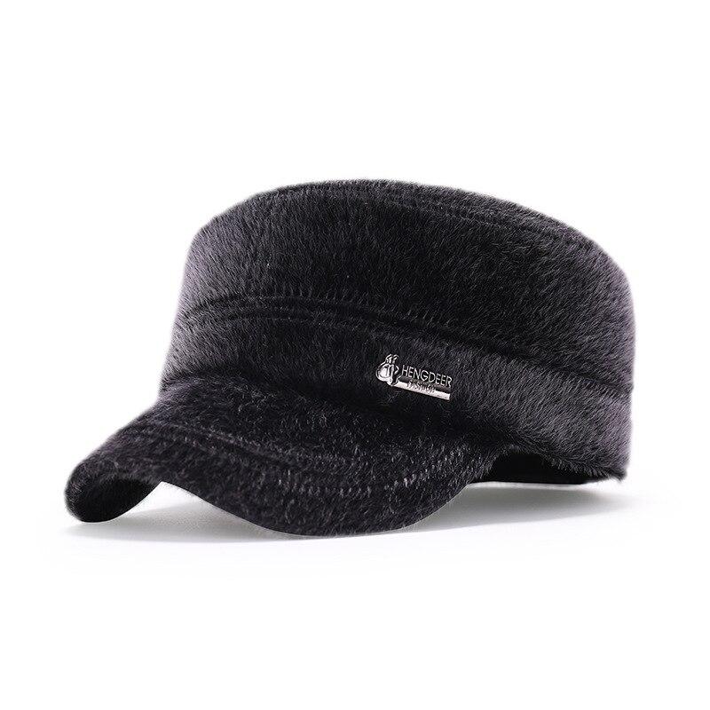Fashion Winter Male Hat Fur Winter Keep Warmth Bone Baseball Hat Outdoor Thick Mink Fur Man Winter Visor Thermal Fur<br><br>Aliexpress