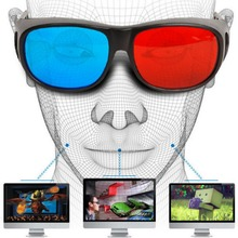 2017 Cool Universal Type 3D Glasses Red Blue Cyan Anaglyph 3D Plastic Glasses TV Movie Video DVD Game Cinema 3D Vision Glasses(China)