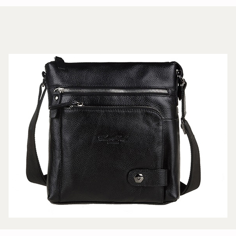 New Fashion mens genuine leather small bag head layer cowhide leather Crossbody Bag  Leisure time single shoulder bag #139<br>