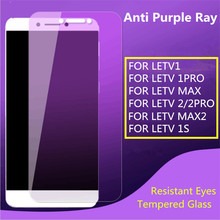 Purple Light Filter Screen Protector Tempered Glass Phone Anti Purple Blue Light for LETV1/1PRO X800/MAX/1S X500/2/MAX2/PRO2