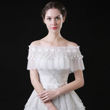 Summer Bolero Women Wedding Cape Boat Neck Bride Wraps Soft Tulle Petals Short Bridal Shawls Wedding Accessories