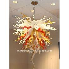 New Products CE UL Led Lights Dale Chihully Style Hand Blown Multicolor Glass Art Chandelier Light
