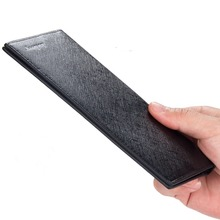 2017 Hot Sale Men Wallet Card Holder long Skin Wallets Purses Fashion Leather Sollid Thin Wallet For Men