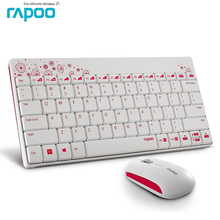 1Set Excellent Rapoo Mini Slim USB Wireless Keyboard and Mouse Combo for Computer PC Android Smart TV