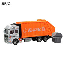 JJR/C Simulation Boy New Educational Car Model Alloy Garbage Tank Truck toy Cleaning Vehicle Engineering Toys For Collection(China)