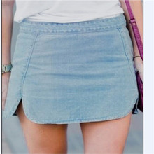 Stylish Women clothes casual Ladies Vintage Slim solid High Waiste Jeans Denim Summer Hot Skirts one pieces