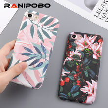 Buy Fashion Cherry Flower Leaf Painting Phone Case iPhone 6 6S Plus 7 7Plus 8 8Plus 5 5S SE Slim Pineapple Marble Hard PC Cover for $1.27 in AliExpress store